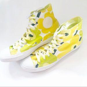 NEW Marimekko X Converse High Top Sneakers